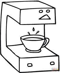 Small Picture Coffee machine coloring page Free Printable Coloring Pages