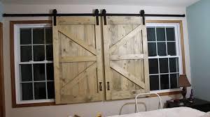 barn door headboard window covers