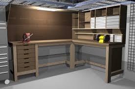 image of garage workbench designs