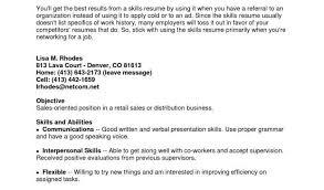 Sample Resume For Retail Merchandiser With Key Skills Resume