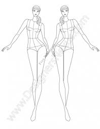Costume Drawing Template Free Fashion Croquis 120 Fashion Figure Templates
