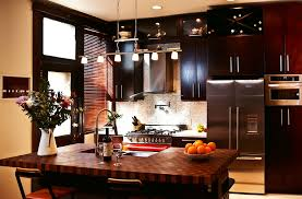 cutting board countertop butcher block island top stylish black kitchen cabinet with wine rack