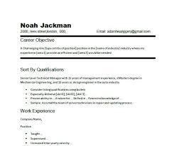 Objective In Resume Sample