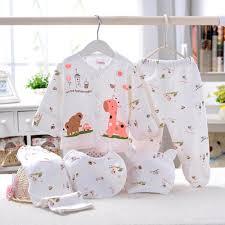 Designer Newborn Baby Boy Clothes Sale Us 8 99 5 Off Newborn Baby Clothing Sets 5pc Cotton Cartoon Design Boy Girls Clothes Long Sleeve Tops Long Pants Hat Bibs Roupa Infantil In