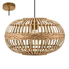 eglo lighting amsfield contemporary brown wooden ceiling pendant light 49771 lighting from the home lighting centre uk