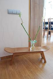 Skateboard Bedroom Furniture Wooden Natural Chairs From Skateboard Idea For Outdoor Seating