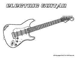 Double neck guitar world musical instruments coloring: Coloring Pages Guitar Coloring Home