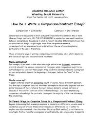 Example Of A Comparison And Contrast Essay How Do I Write A Comparison Contrast Essay Wheeling