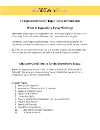 Sample Expository Essay Expository Essay Examples Tips And Prompts 500wordessay