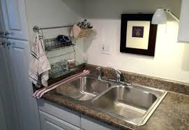 interior over sink drying rack the dish clothes kohler kitchen