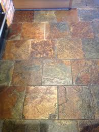 slate tile floor cleaning before