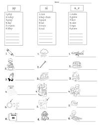Phonics worksheets ai and ay. Phonics Ay Ai A E
