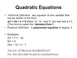 97 quadratic equations