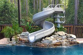 backyard pool with slides. Fine Pool GForce Giant Pool Slides Throughout Backyard Pool With Slides