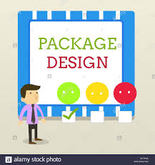 Questionnaire About Packaging Design Word Writing Text Package Design Business Photo Showcasing