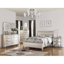 Esofastore Esofastore Formal Traditional Romantic Bedroom Furniture 4pc Set  Cal King Size Bed Dresser Mirror Nightstand