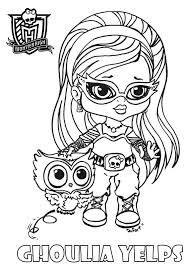 Baby Ghoulia Printable Coloring Sheet From