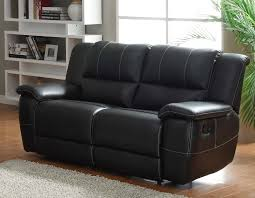 Cantrell Love Seat Double Recliner - Black - Bonded Leather Match