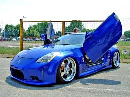 nissan 350z modified blue. Beautiful Blue A Racing Blue Nissan 350 Z To 350z Modified Blue