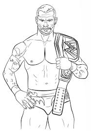 Jeff Hardy Coloring Pages Extraordinary Wwe Linear Free Printable