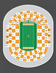 Ut Neyland Stadium Seating Chart For The Florida Tennessee Game Being Played At Neyland