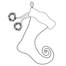 Small Picture Free Stocking Clip Art Image Christmas Stocking Coloring Page