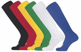 green red black white blue yellow long soccer football rugby socks sizes 30 44