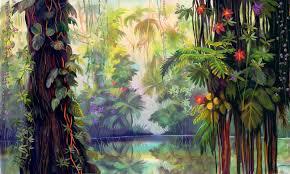 Jungle wallpaper, Jungle tree ...