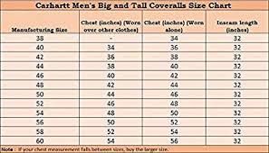 Carhartt Mens Jacket Size Chart Carhartt Mens Big Tall Arctic Quilt Lined Duck Coveralls X01