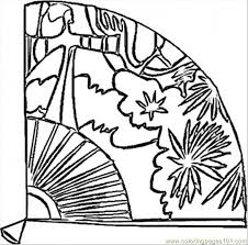 Small Picture Fan Coloring Page Free Spain Coloring Pages ColoringPages101com