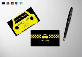 business card tamplate taxi business card template