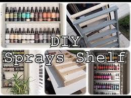 diy craft room storage solution sprays shelf