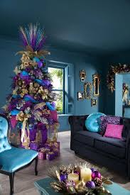 Decorations:Splendid Decoration Idea For Christmas Party Feat Colorful Tree  And Centerpiece Decor Making the