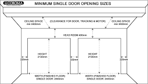standard garage door size