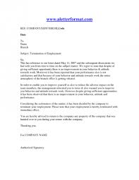 Termination Of Employment Letter Template Termination Of Employment Letter Template Examples Letter Template