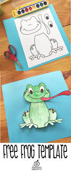 Free Printable Frog Template Kalipli Etkinlikler Pinterest