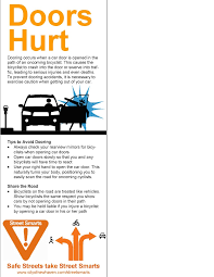 anti dooring flier remends far hand method to drivers part of new haven
