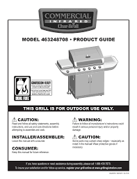 Char Broil Lighting Instructions Char Broil Commerical 463248708 Product Guide Manualzz Com