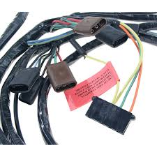 mustang headlight wiring harness w o trachometer or fog lights  headlight wiring harness out tachometer and fog lights 1968