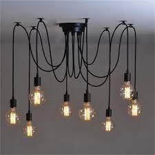 edison bulb lighting. 8Heads Mordern Nordic Retro Edison Bulb Light, Industrial Vintage Ceiling Lamp, Light Pendant Lighting Holder Led Lamp Fixtures L