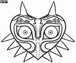 Kleurplaat De Majora Masker Zelda Kleurplaten