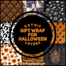 gothic gift wrap for