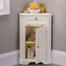 Bathroom Corner Cabinets Weatherby Bathroom Corner Storage Cabinet Powder Corner Storage