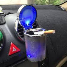 type r car cigarette ash tray and ashtray with blue led