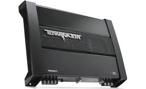 mtx terminator tn250 1 mono subwoofer amplifier 200 watts rms x mtx terminator tn250 1 front