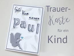 Gute Reise Kleiner Paul Trauerkarte Für Ein Kind