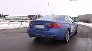 BMW 3 Series bmw 435i xdrive m sport : BMW 435i M Sport xDrive Coupe F32 in Estoril Blue - sound, revs ...
