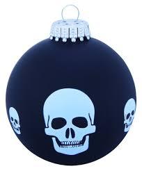 Weihnachtskugel Totenkopf