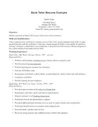 good objective resume sample career objectives resume smart idea resume for  bank teller 5 best images