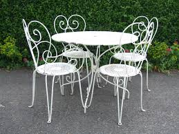 white wrought iron garden furniture. 49 Iron Table And Chairs Set Wrought Patio Furniture The For Garden Antique Pertaining To Home White Ellen Pompeo